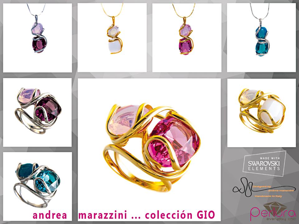 Nueva colección de Andrea #Marazzini con #SWAROVSKIELEMENTS #Anillo #Colgante con colores espectacular