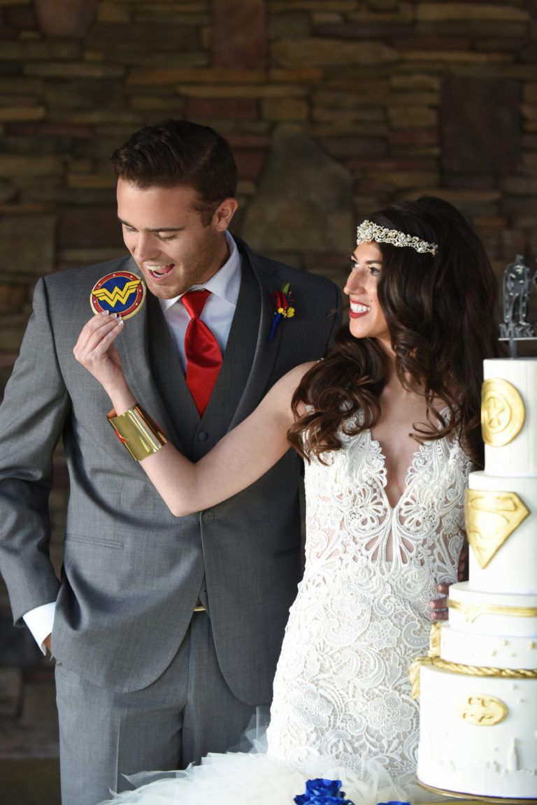 superman and wonder woman wedding theme. | nerdy chic