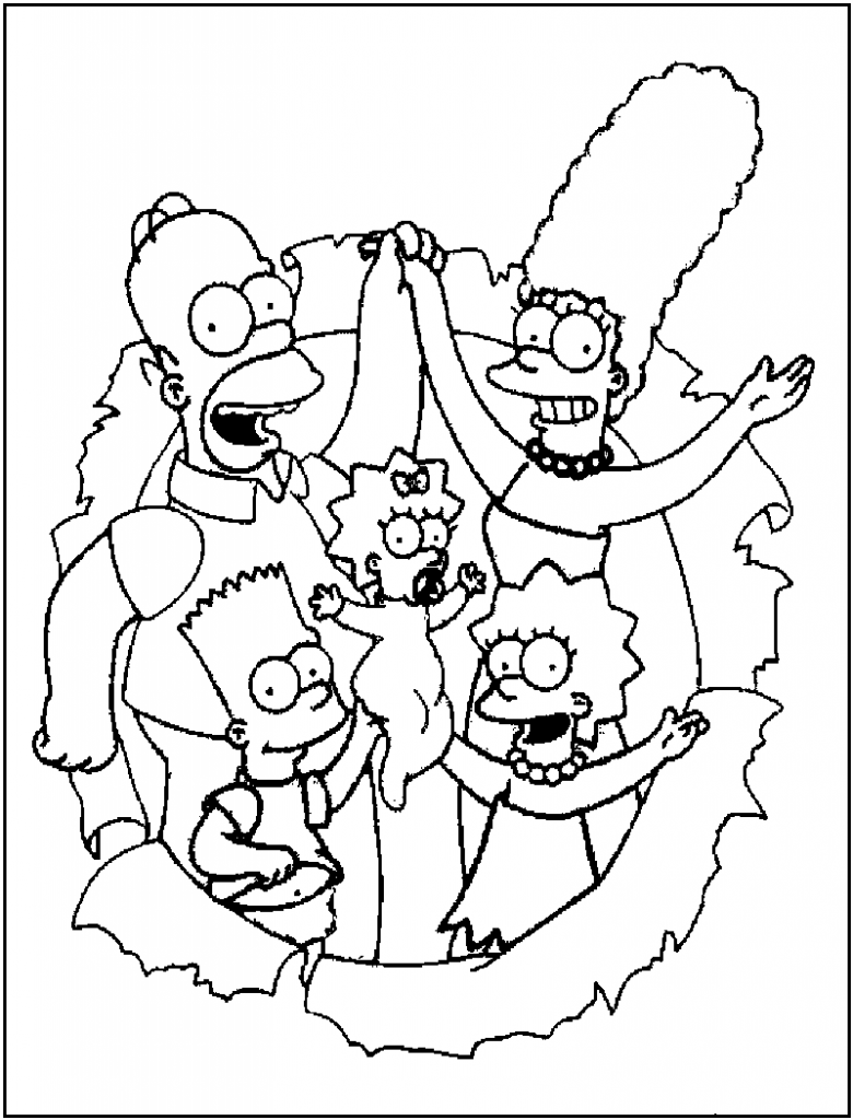 Free Printable Simpsons Coloring Pages For Kids | Cartoon