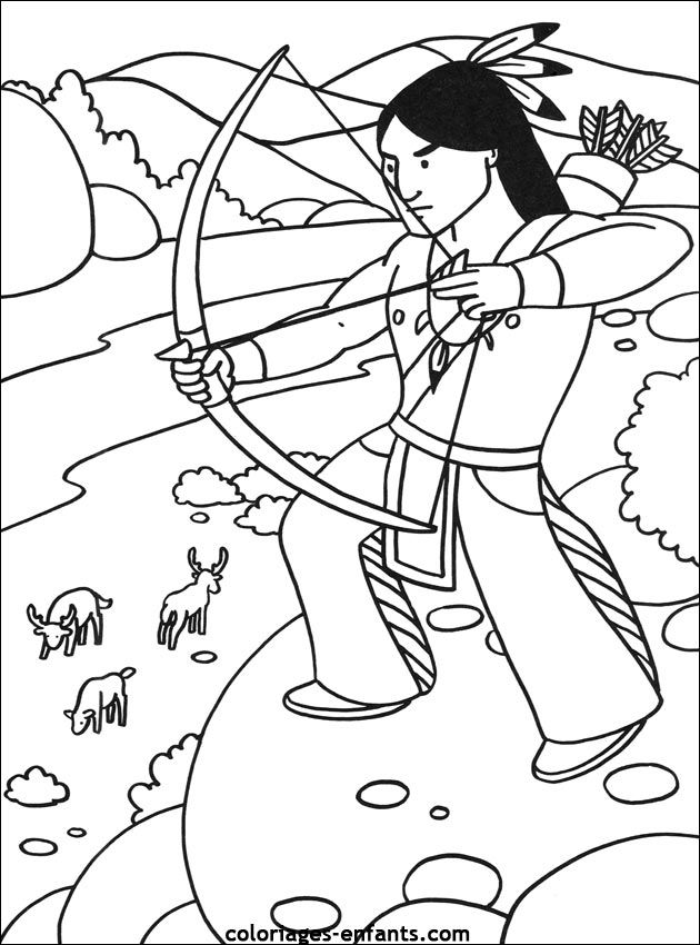 les coloriages d u0026 39 indiens