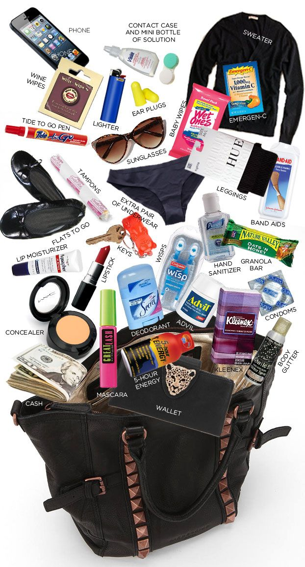 If you have a great big bag | What You Need In Your Bag On New Year'sEve