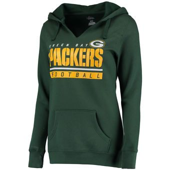 Women s Green Bay Packers Majestic Green Self-Determination Pullover Hoodie 86c867efe