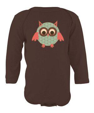 Loving this Brown Polka Dot Owl Bodysuit - Infant on #zulily! #zulilyfinds