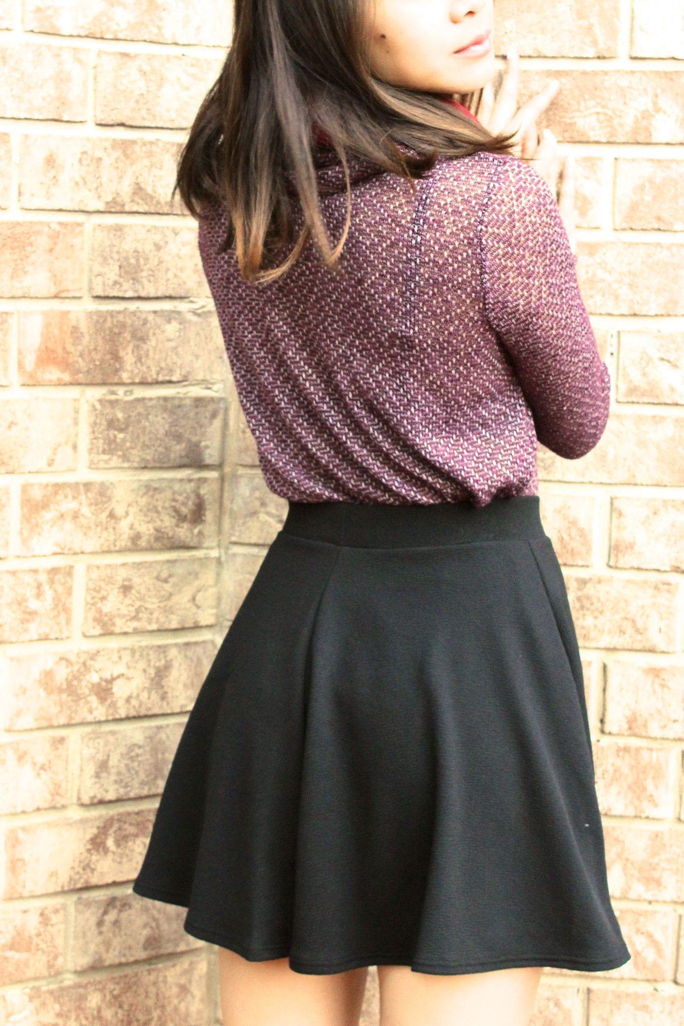 Bella Skater Skirt - Black