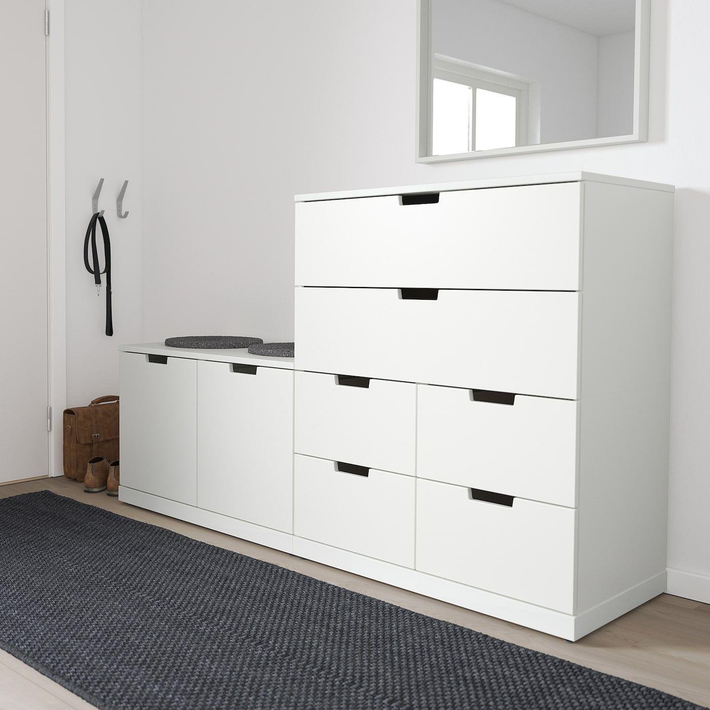 Nordli Chest Of 8 Drawers White Ikea In 2020 Kommode Schubladen Nordli Ikea