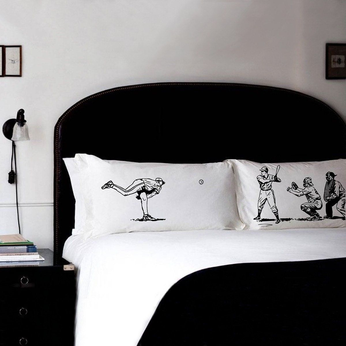Photo of Baseball Pillow Cases Pillow Fighting Pillowcases Batter vs Pitcher sports bedding retro Gift sports decor New