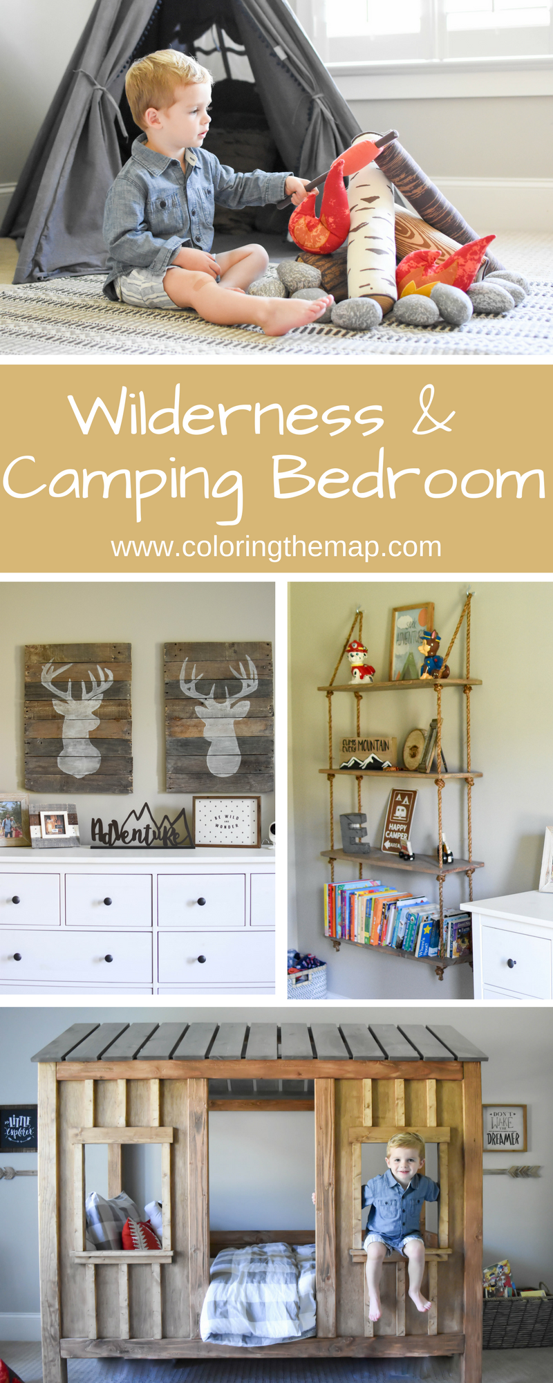 Wilderness Boys Room Coloring The Map Outdoor Themed Bedroom Camping Theme Bedroom Boys Room Colors