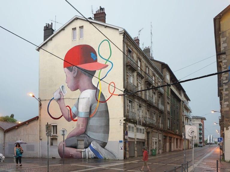 Grenoble 2017 Seth Artiste De Rue Peindre Mur Les Arts
