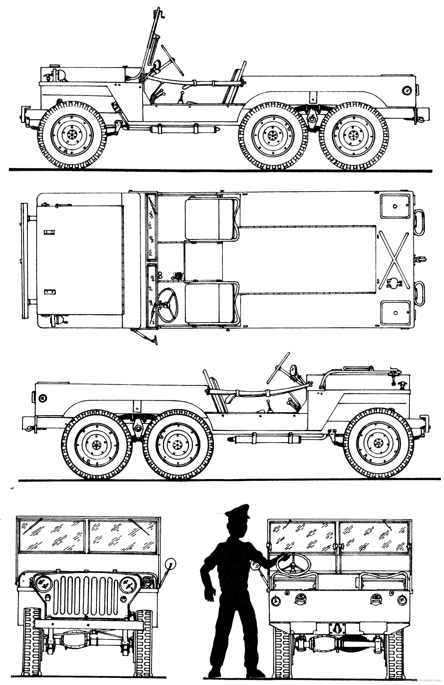 Willys Mt Tug Super Jeep 6x6