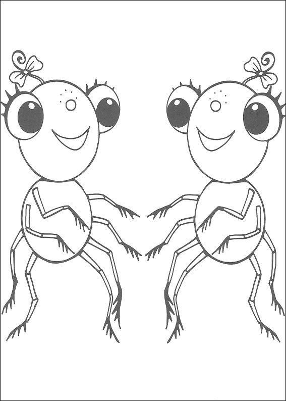 Miss Spider Fargelegging for barn. Tegninger for utskrift og fargelegging nº 5