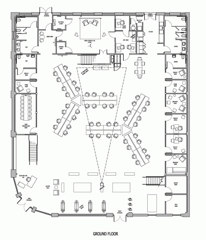 office space floor plan creator. Gallery Of Buzzfeed LA Office / JIDK - 18. Layout Space Floor Plan Creator
