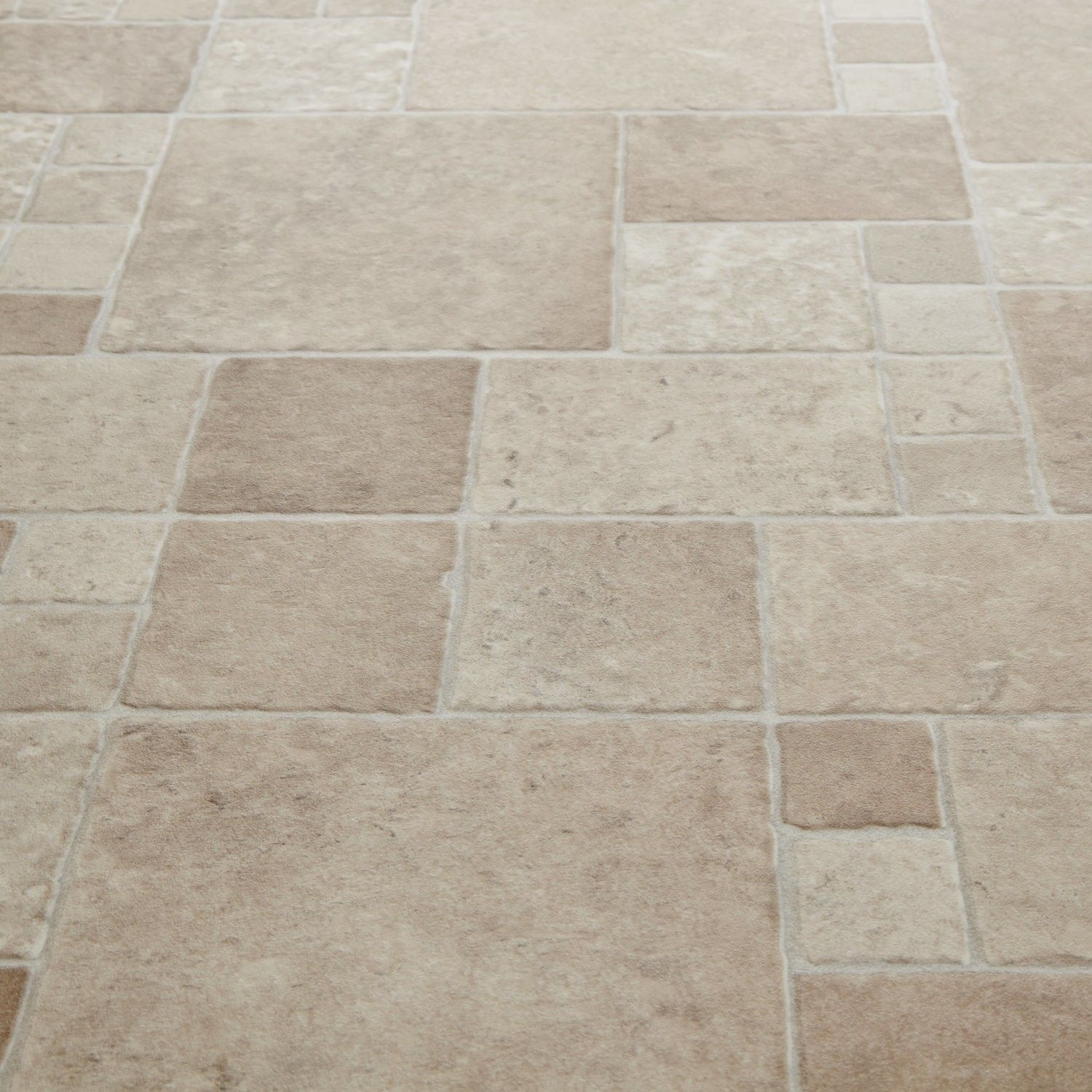 Bounce 535 toucan cream stone effect vinyl flooring for Stone effect vinyl flooring