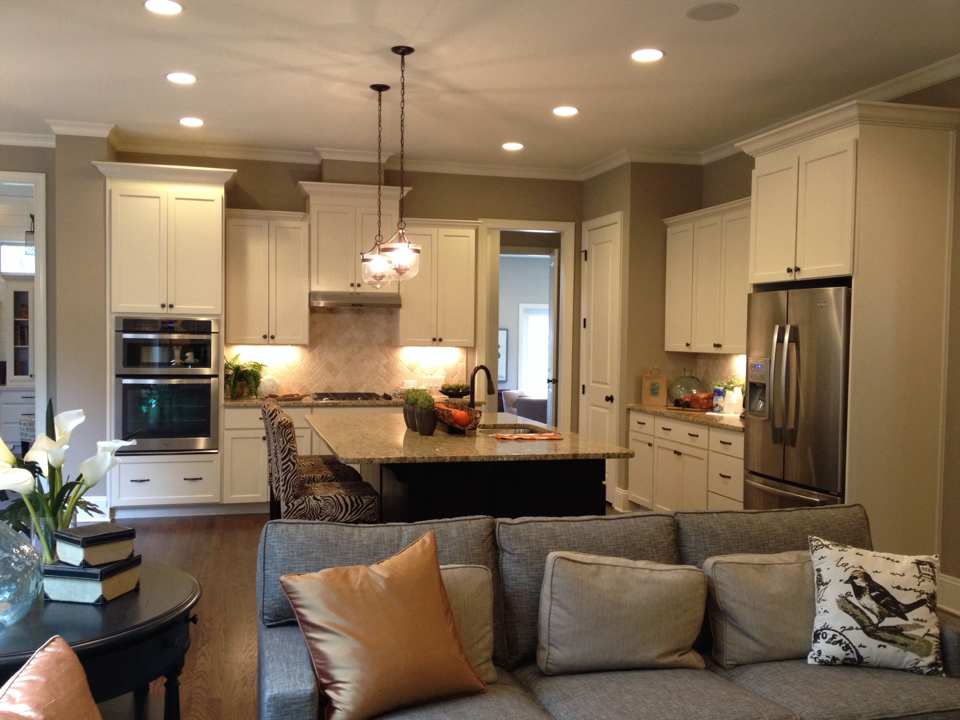 Open Concept Kitchens Dream Open Concept Kitchen With White Or Cream Cabinets And An