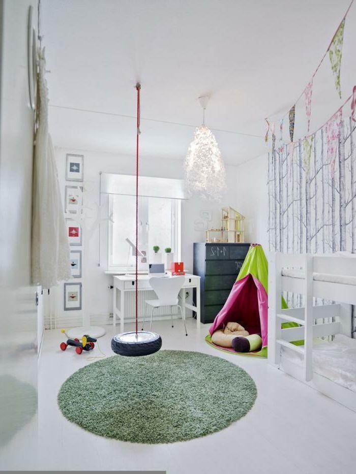 kinderzimmer schaukel - minimalistische gestaltung | Kinderzimmer ... | {Gestaltung kinderzimmer 27}