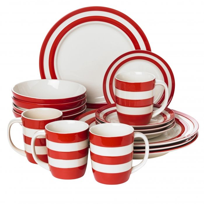 16 Piece Dinner Set Cornishware Classic British Kitchenware By T G Green An Indispensible Set Of Our Classic Tablewa Cornishware Tableware Tableware Set