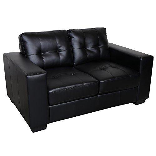 porter designs swl9071 harper leather loveseat black convertibles