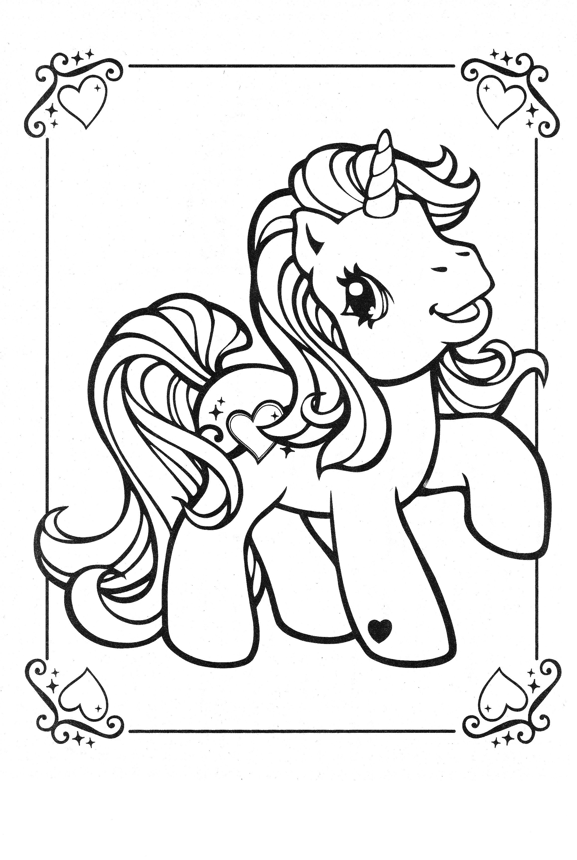 Old My Little Pony Coloring Pages My Little Pony Coloring Old My Little Pony Unicorn Coloring Pages [ 3428 x 2301 Pixel ]