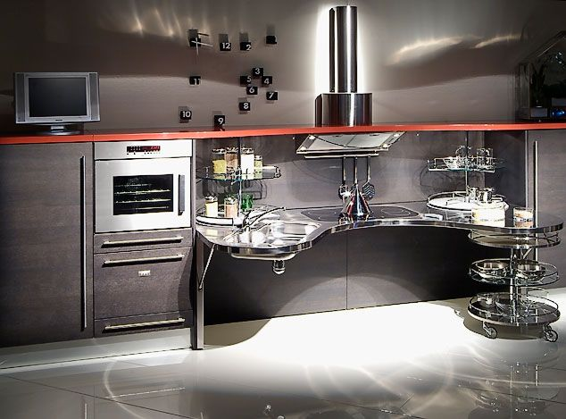 Modern Wheelchair Accessible Kitchen By Italian Manufacturer