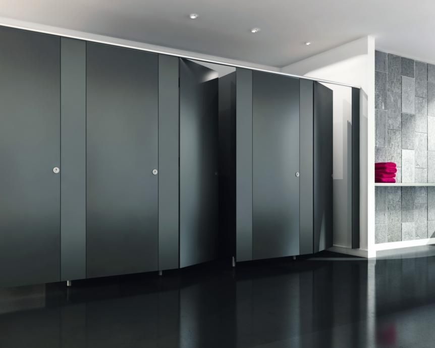 Black Bathroom Stalls office restroom modern - google search | dynaconnections restrooms