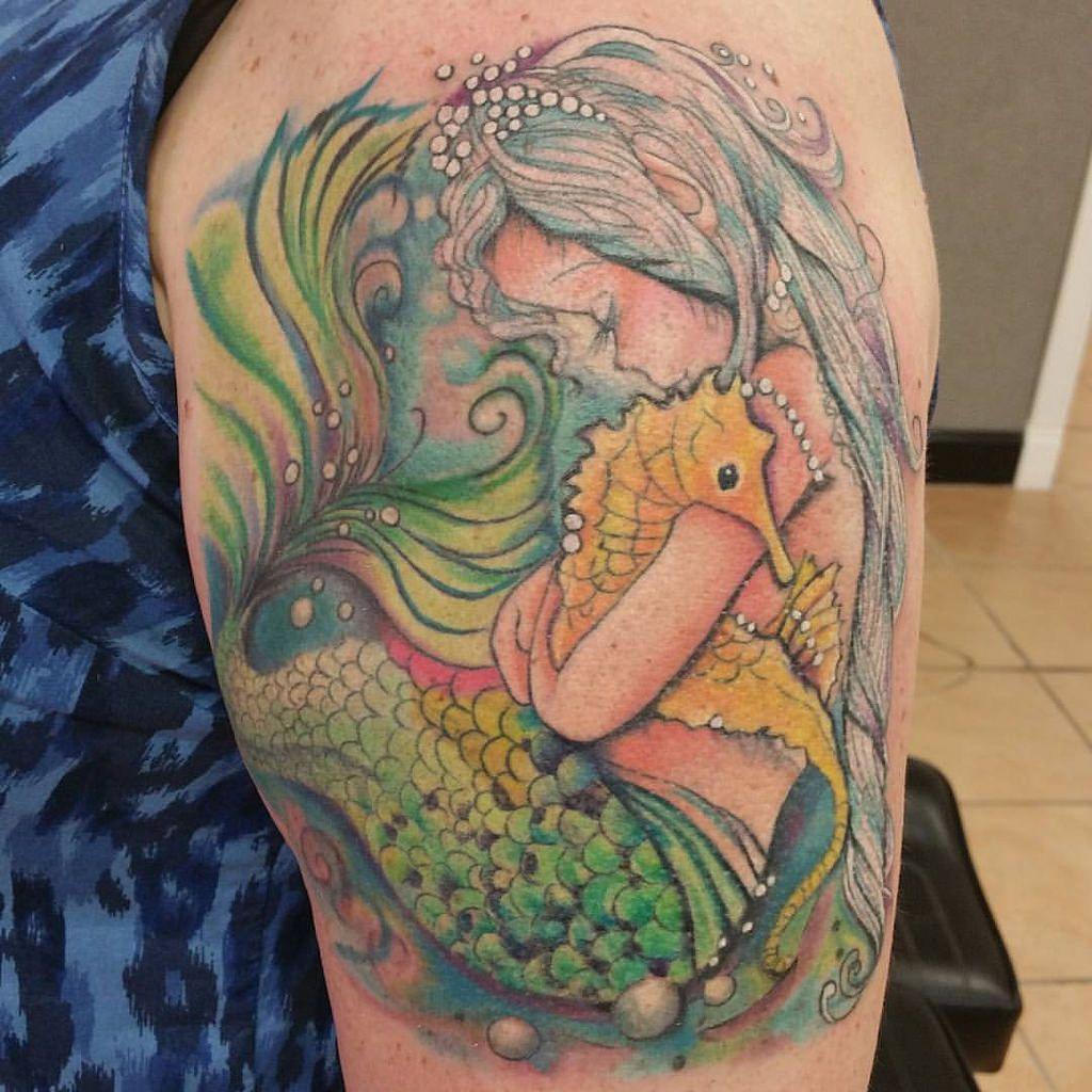 Watercolor mermaid tattoo mermaid tattoo ideas for Mermaid tattoos pinterest