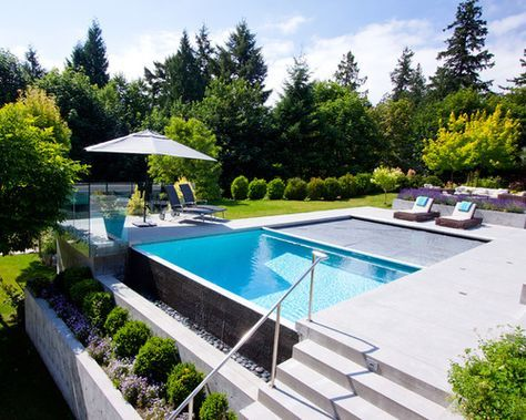 terraced pool google search pool designs pinterest. Black Bedroom Furniture Sets. Home Design Ideas