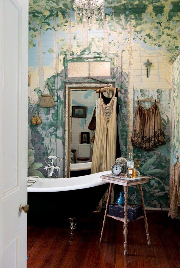 Ba o con paredes pintadas imagenes para so ar - Banos con paredes pintadas ...