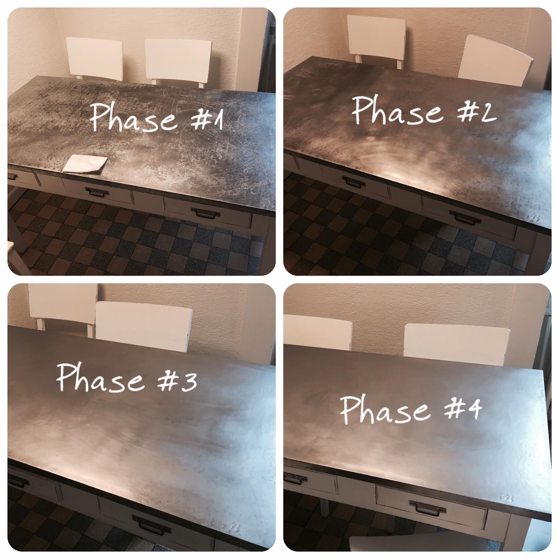 Comment Nettoyer Le Marbre Exterieur photo avant/après : nettoyez le zinc n'a jamais été aussi