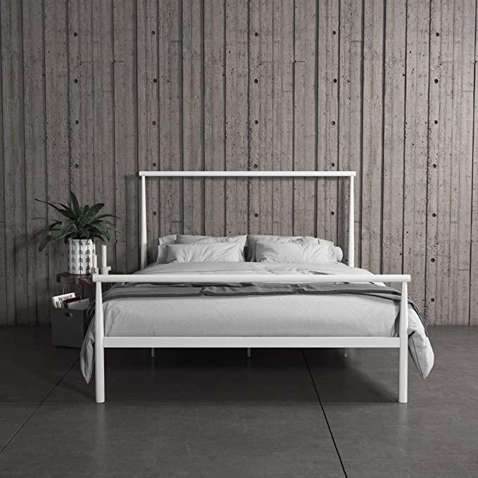 Amazon Com Realrooms Calixa Modern Metal Platform Bed Frame