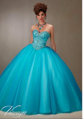 Vestidos De 15 Años Azul Turquesa Para Quinceañeras Ropa