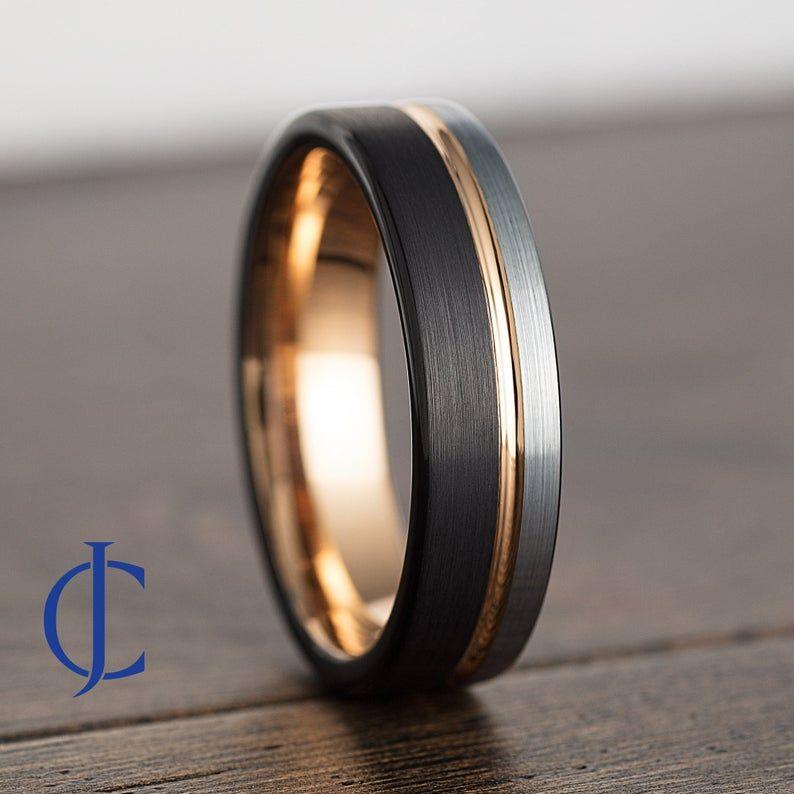 Mens Wedding Band Mens Ring Mens Wedding Ring Male Wedding Etsy In 2021 Mens Wedding Bands Rose Gold Mens Wedding Band Rose Gold Wedding Bands