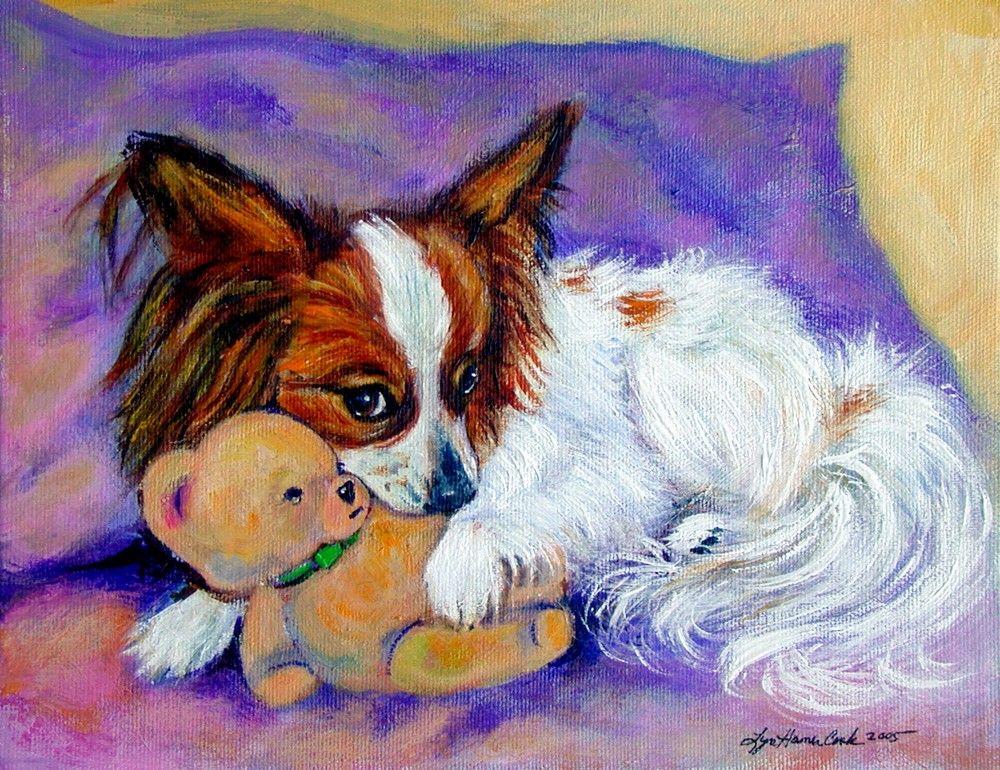 Papillon Dog Giclee Fine Art Print Adorable Art From My Original