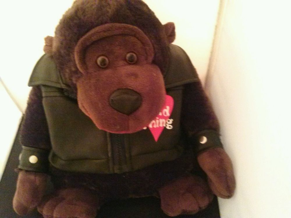Dan Dee Ape Plush Stuffed Toy Black Quot Leather Quot Jacket