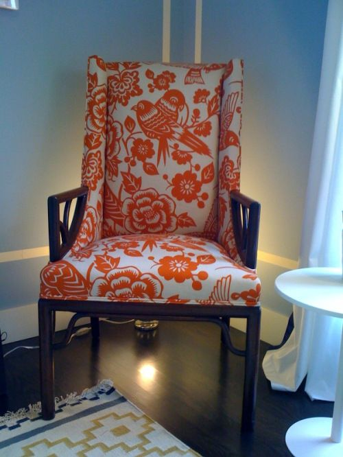 Courtney Lake Tangerine Arm Chair * From Courtney Lake's