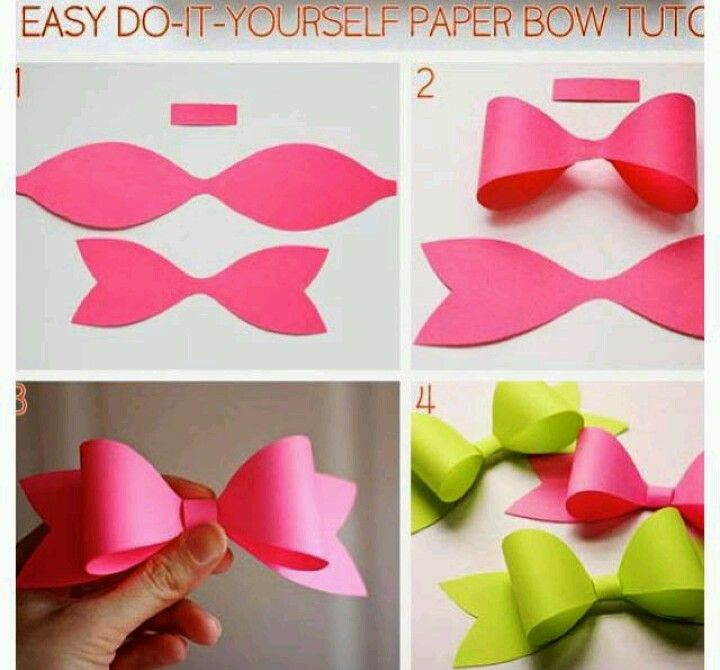 Make this out of construction paper instead of buying ribbon diy paper bow diy crafts craft ideas diy ideas diy crafts crafty easy diy easy craft diy bow craft bow by mavrica solutioingenieria Choice Image