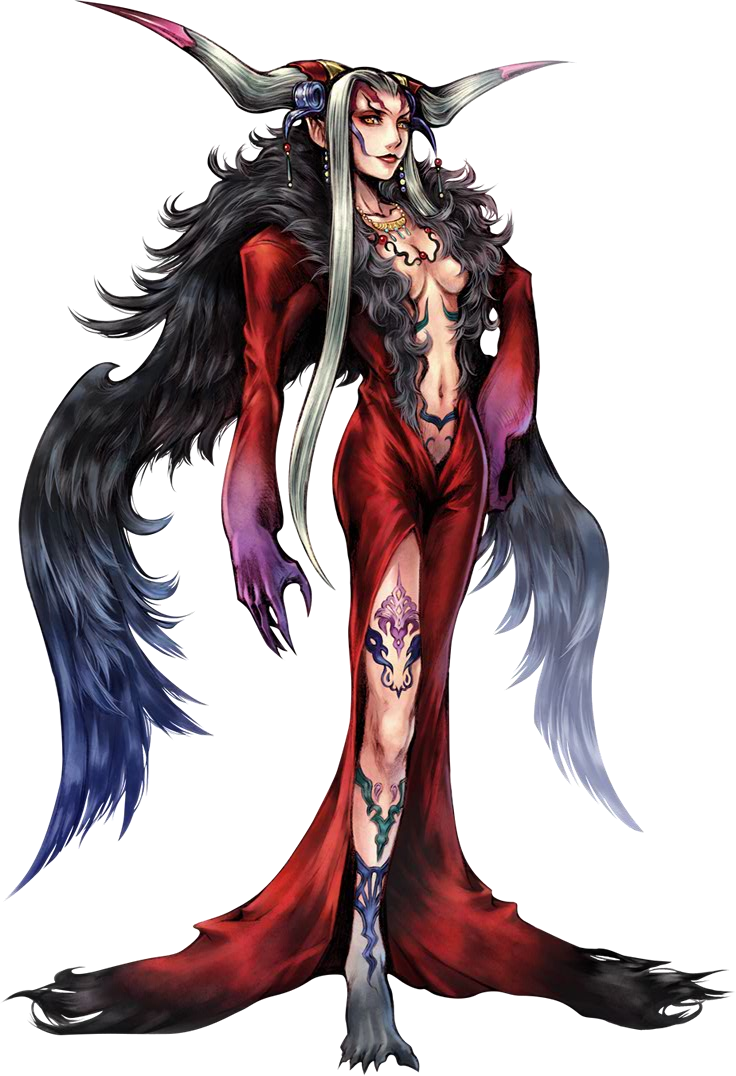 Ultimecia: Final Fantasy VIII/ Dissidia. Casts time magic and sends forth magic weaponry. To her, time is meant to be something to be grasped and ruled.