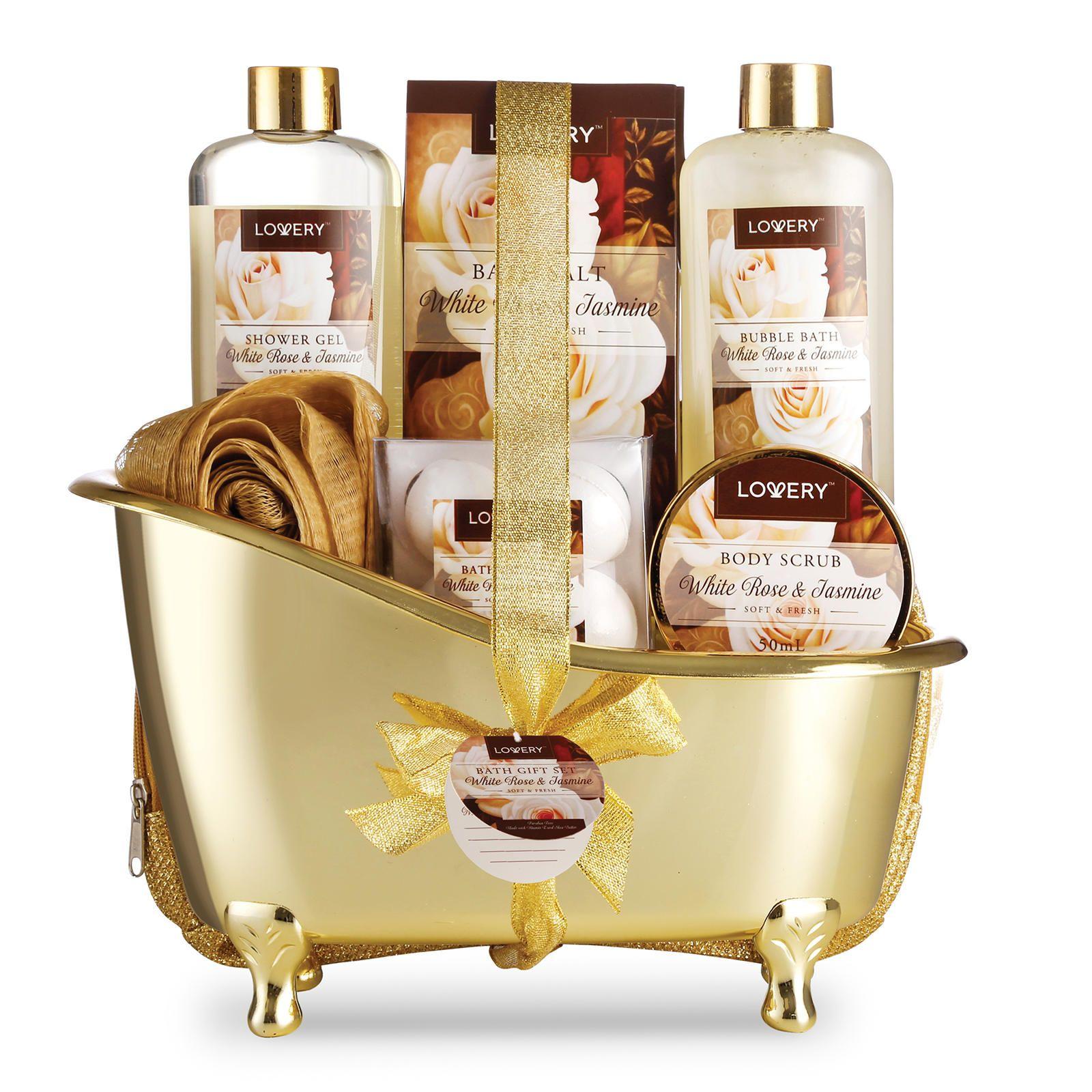 Home Spa Gift Basket - Luxurious 8 Piece Bath & Body Set For Women ...
