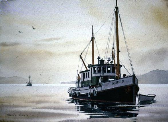 Fishing Boat Painting By Alexei Biryukoff Boat Art Fish