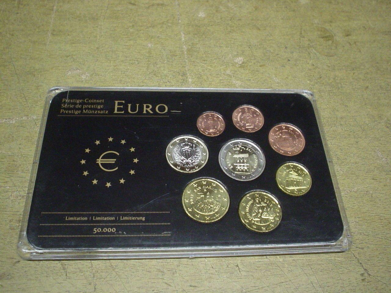 San Marino , KMS / Coin Set Prestige CoinSet , 8 x Euro Münzen ...