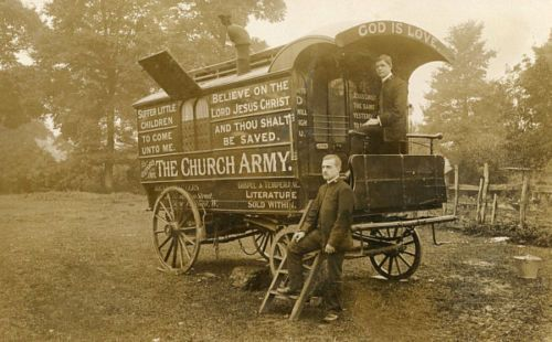 Oxford-Church-Army-Caravan-No1-Oxfordshire-Real-Photographic-Postcard-RP