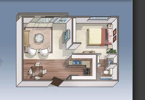 The Esquire Apartment Floor Plans Los Angeles Ca Home Planner Apartment Floor Plans 1 Bedroom Apartment