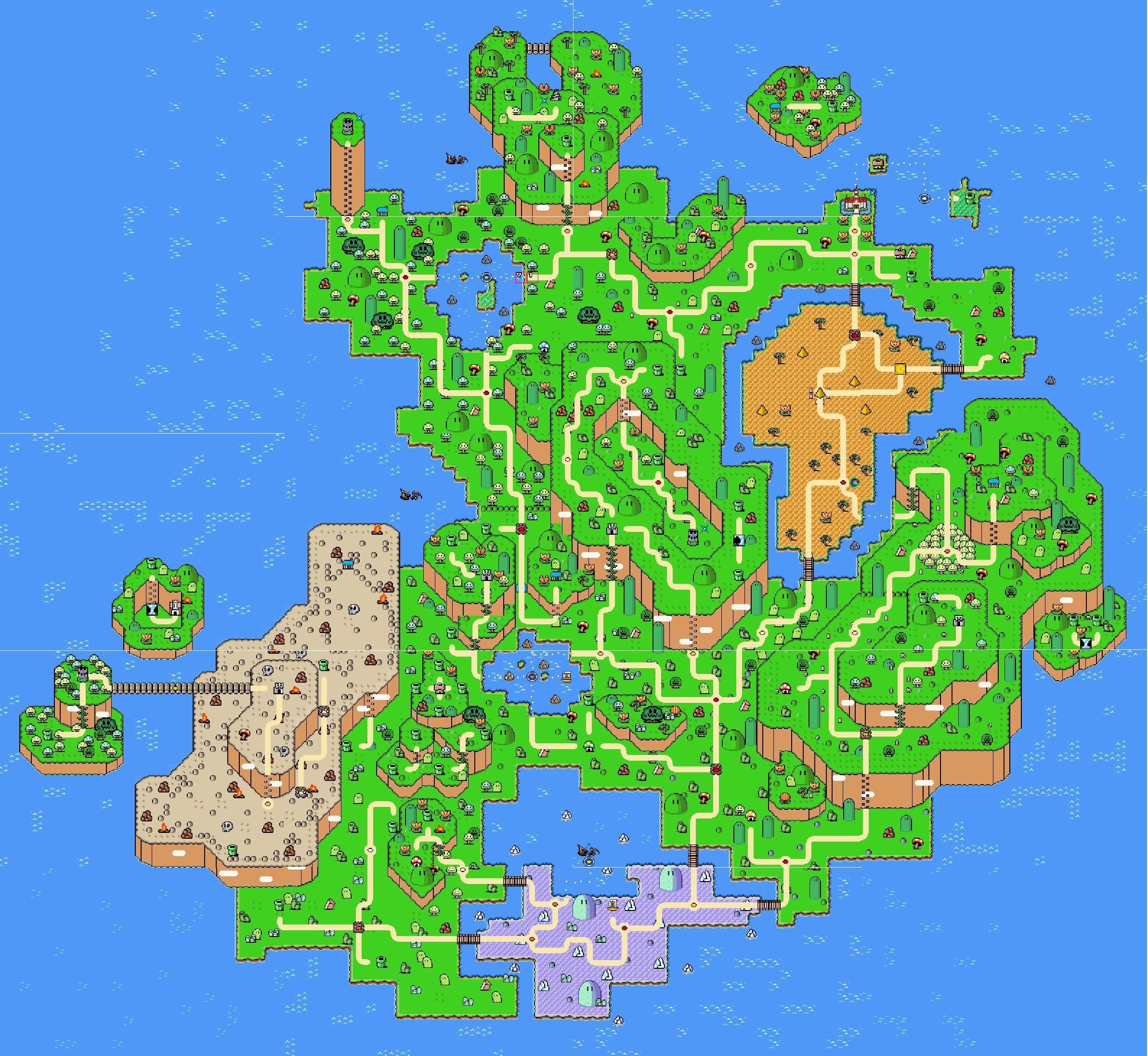 Amazing Super Mario World Complete Map 13 | wowpow in 2019 ...