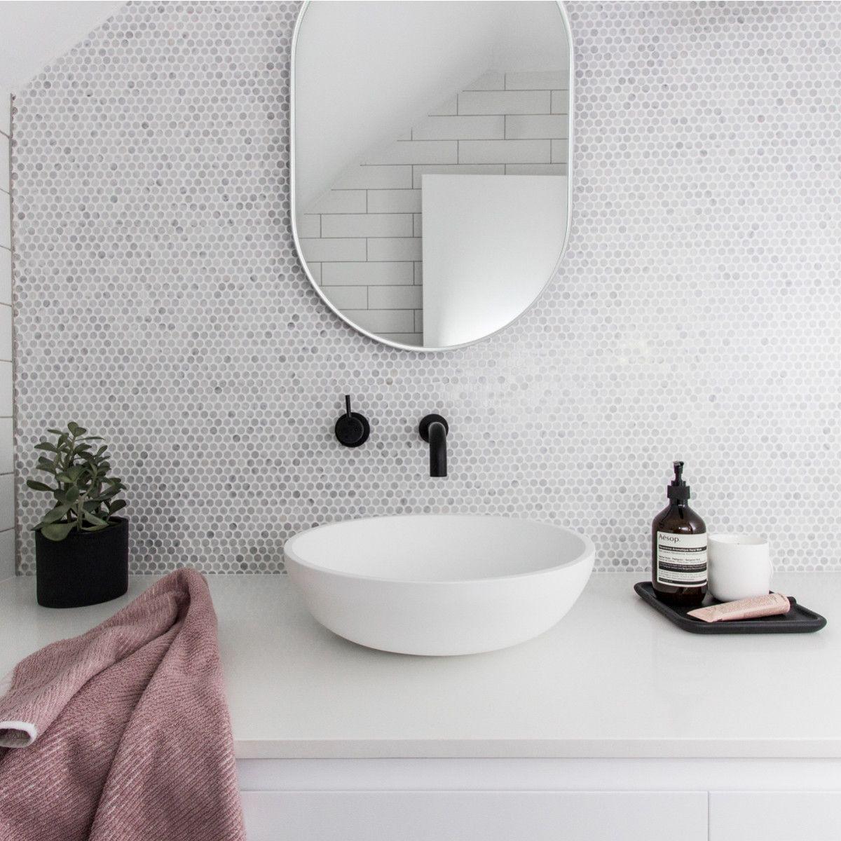 Designstuff Offers A Range Of Contemporary Home Decor Including This Beautiful Bjorn Mirror In White Round Mirror Bathroom Oval Mirror Bathroom Bathroom Mirror