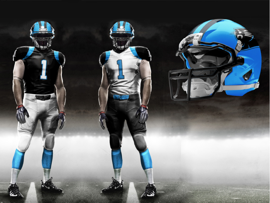 Carolina Panthers New Uniforms  fe646001d