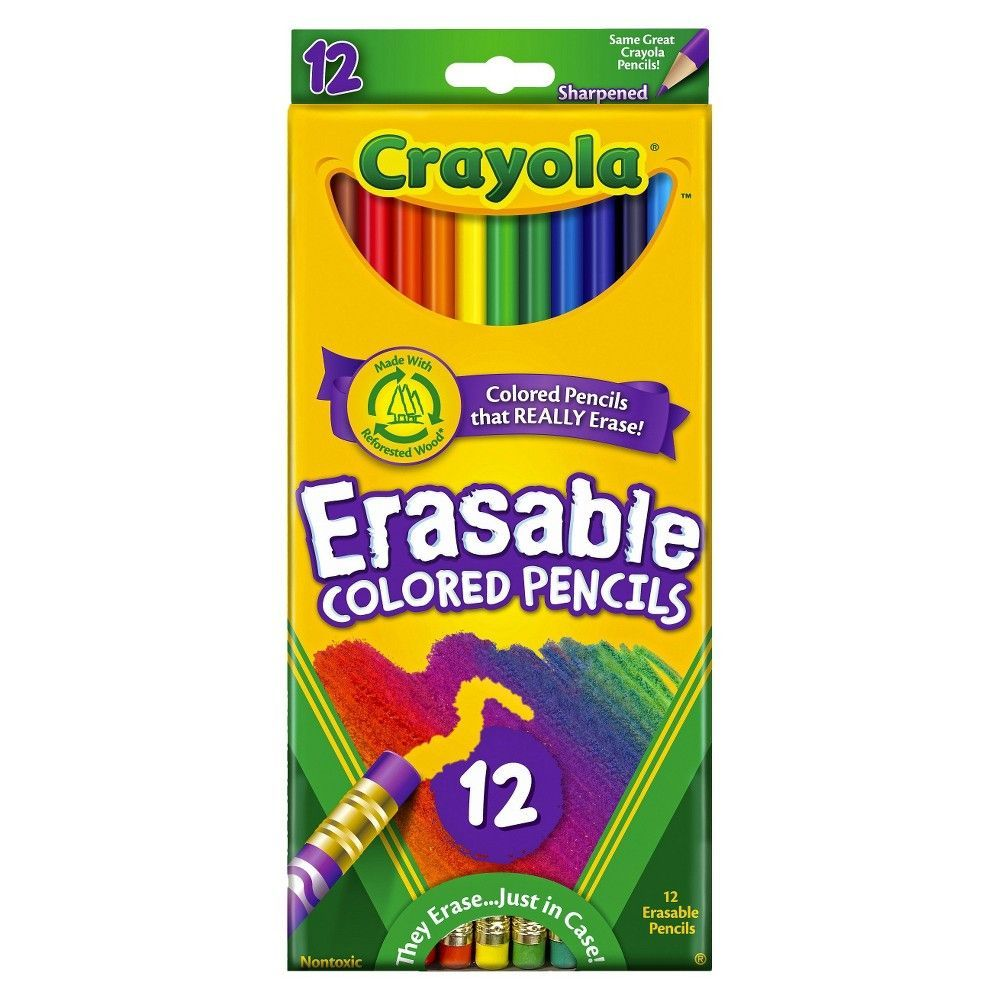 Crayola Erasable Colored Pencils 12ct Multicolor In 2019