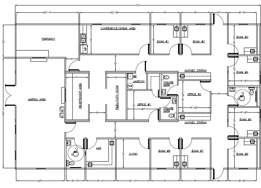 Medical office layout sample floor plans and photo for Sample home floor plans