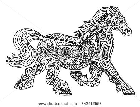 Free Printable Horse Coloring Pages Adult Horses