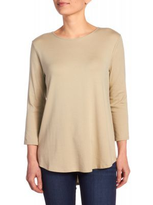 86096543 Andrea Jovine Women's 3/4 Sleeve Crew Neck Tunic With Shirt Tail, Available  at #EssentialApparel