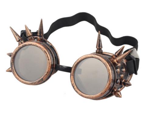 Retro Vintage Goggles //Kaleidoscope//Steampunk//Cosplay//Victorian//Welding//Spikes