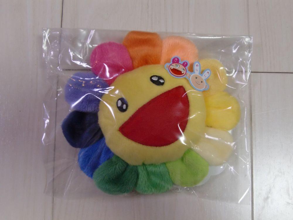 New takashi murakami kutakuta flower rainbow mini plush