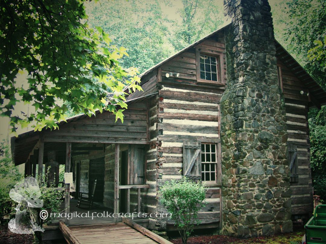 1790 Log Cabin Landsford Canal State Park South Carolina   Park That Has  The Spider Lilies